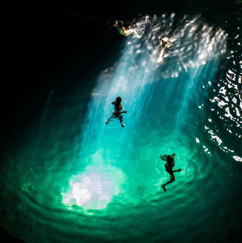 cenote samula yucatan mexico fresh water river light beam amazing photos off the beaten path cave diving swimming