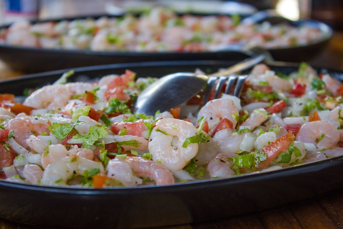 El Cuyo food amazing ceviche shrimp and seafood