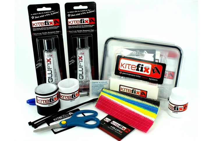Bring a kite repair kit while traveling with your kiteboard gear and backpacking