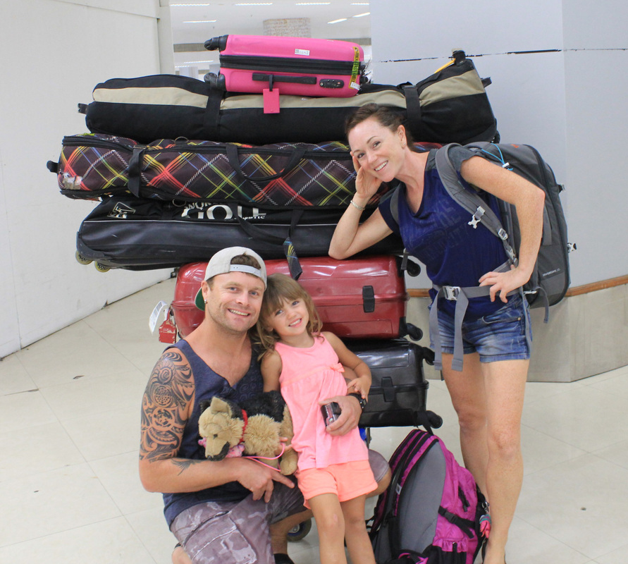 Know airline baggage fees when you backpack and travel with your kiteboarding gear long term, this will save you tons of money