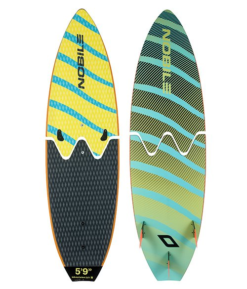 Nobile split board for surfing is the future for traveling with your kiteboarding gear.  Split board foil for kitesurfing is upon us.