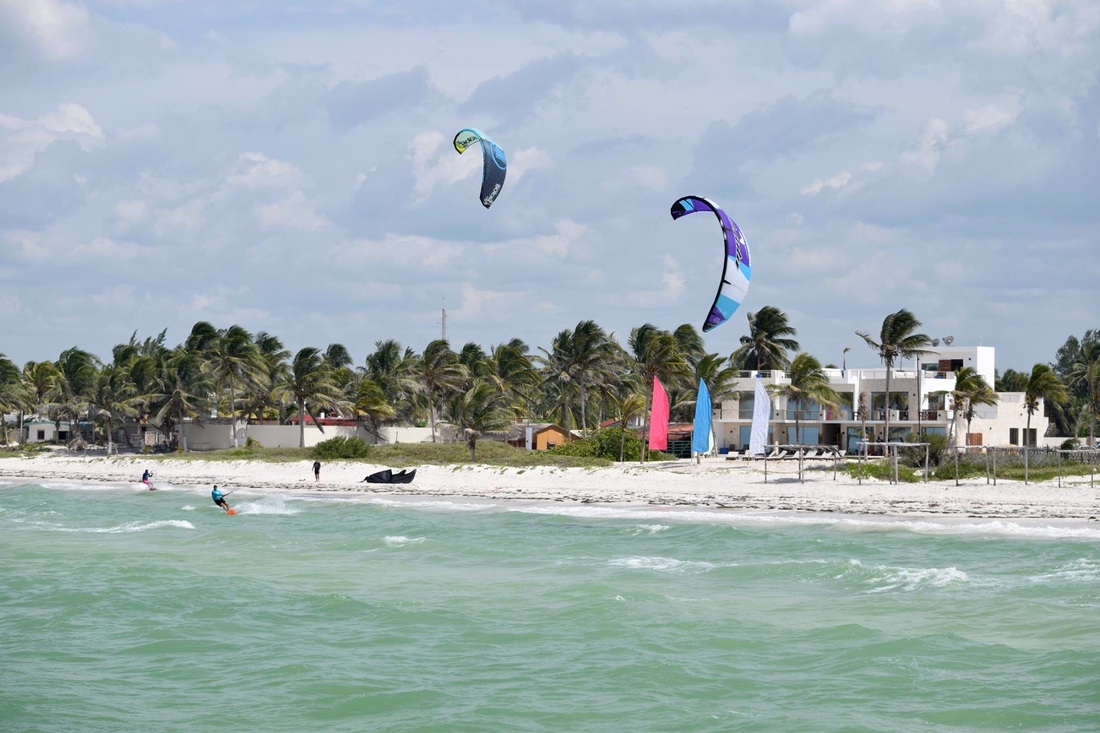 el cuyo mexico kiteboarding kiteboard kitesurf kitesurfing comekitewithus windy wind yoga retreat