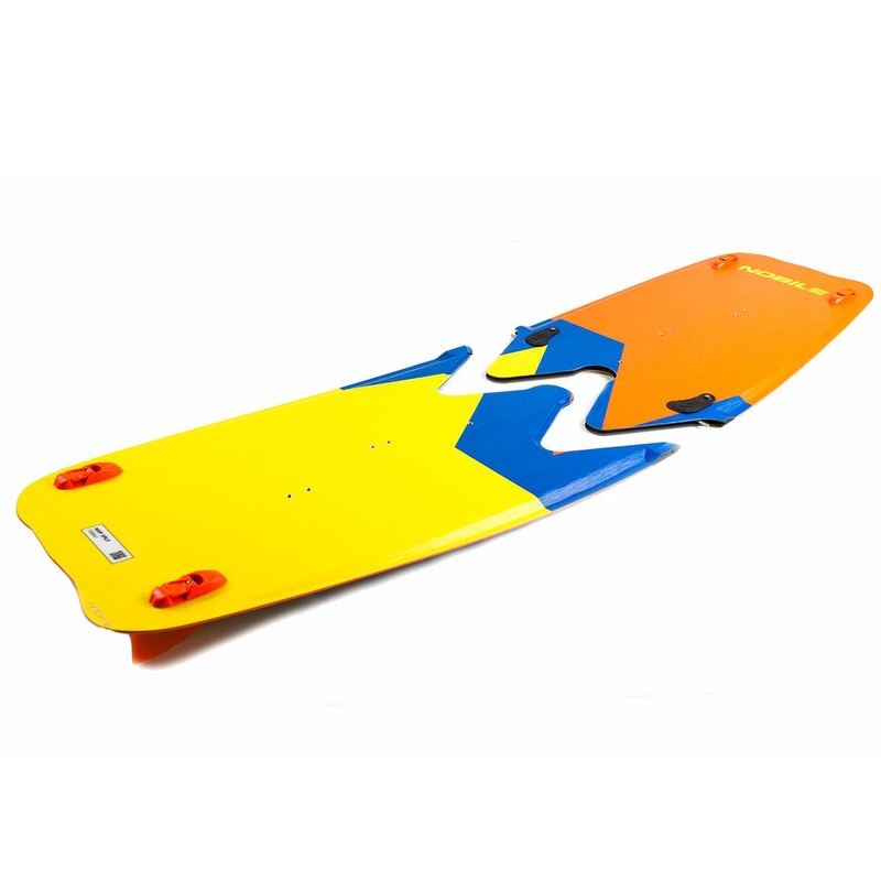 Nobile split board for backpacking with kitesurf gear and equipment.  Travel with a split board is the best for kiteboarding