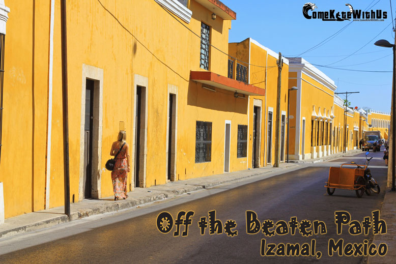 Off the beaten path in the Yucatan, Izamal, Mexico. Guide and tips for visiting the Yellow city of Izamal Mexico with pics