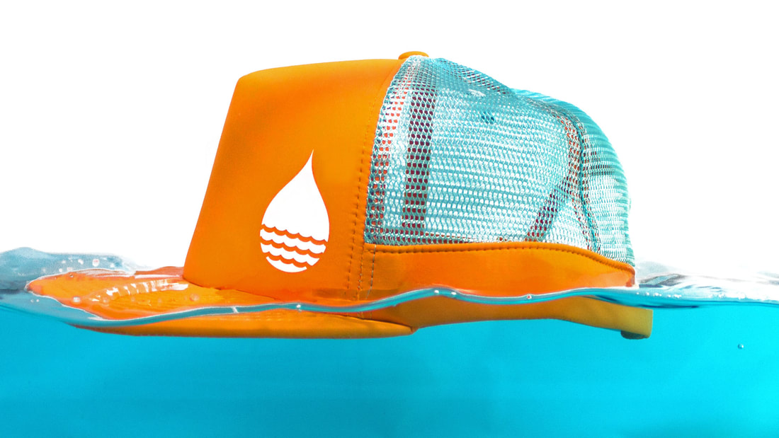 Buoy Wear Floating hat for SUP, Kiteboarding, fishing, kitesurfing, sailing, boating anything water related