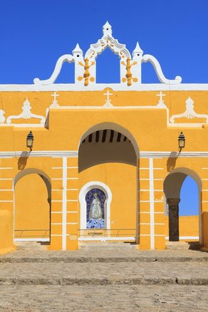 Izamal Yucatan Mexico Atrium of Franciscan Convent San Antonio Yellow City is amazing to explore, guide and tips