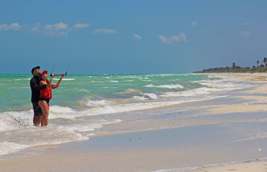 El Cuyo mexico guide map kiteboard lessons iko kitesurf teach school light house yucatan accommodation transportation food holbox cancun tulum playa del carmen