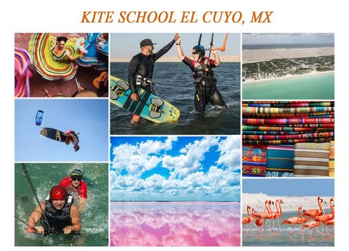 Learn kiteboarding in El Cuyo, Mexico or in the Gorge U.S.A.  IKO certified kitesurfing lessons